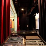 Sound desk and stage